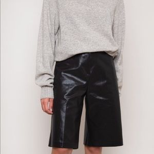 The Frankie Shop Coated Bermuda Shorts